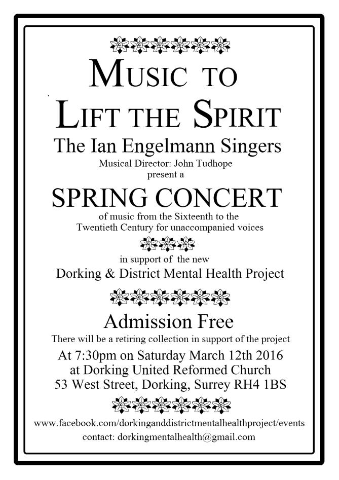 Dorking & District Mental Health Project - Spring Concert